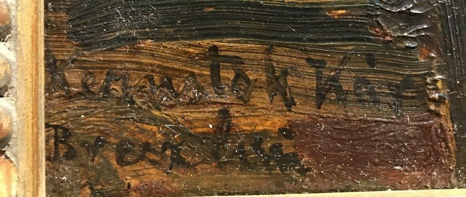 Ptg on board of cactus by Karoly Kernstok, circa 1920 - 3