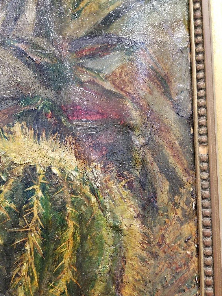 Ptg on board of cactus by Karoly Kernstok, circa 1920 - 5