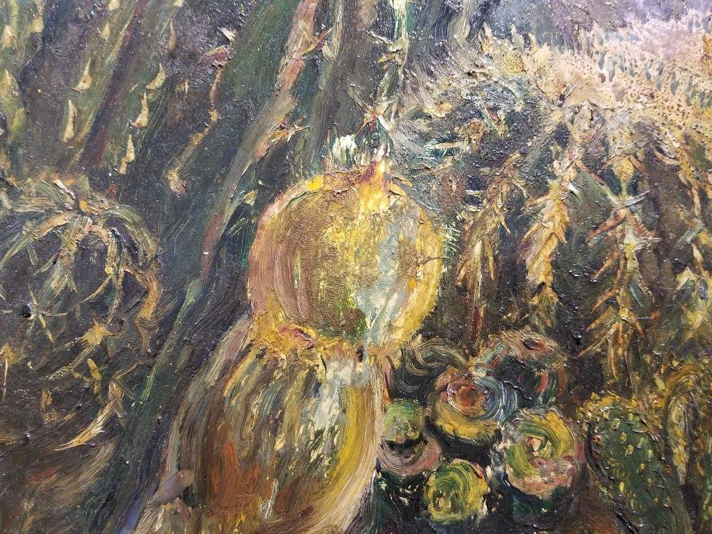 Ptg on board of cactus by Karoly Kernstok, circa 1920 - 8