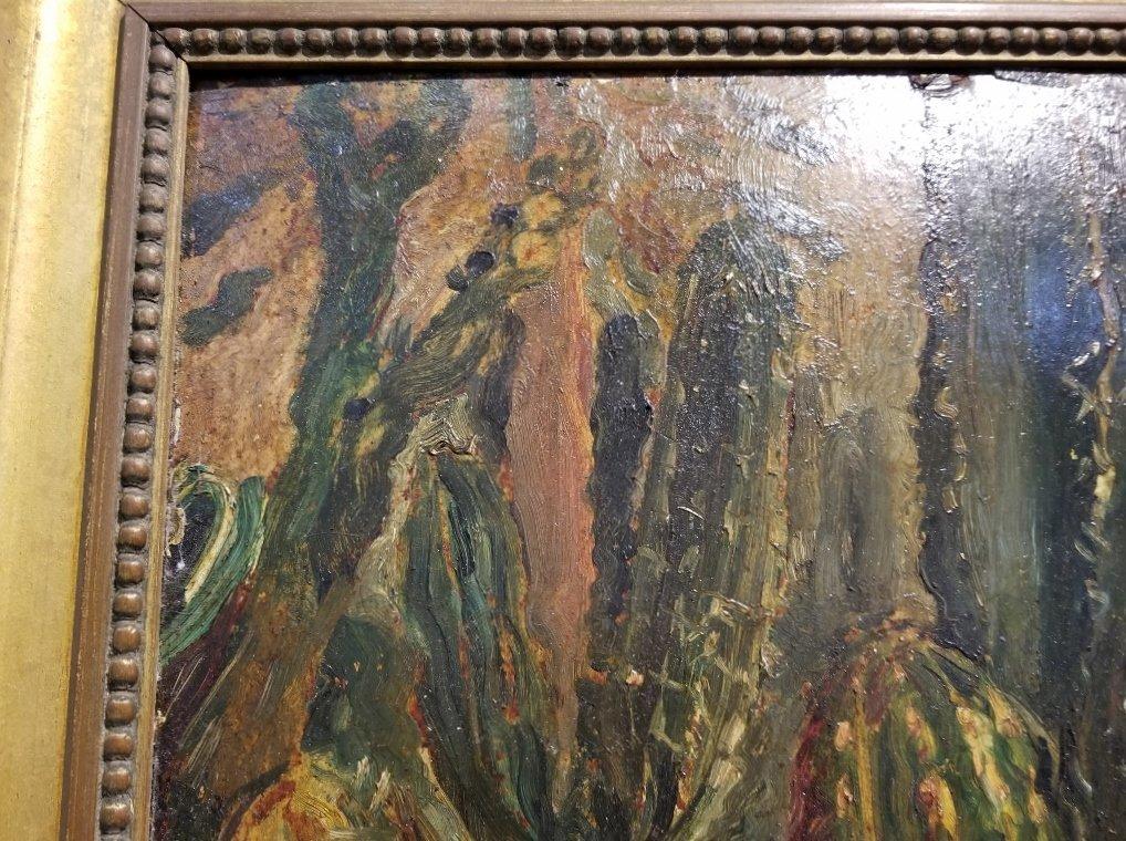 Ptg on board of cactus by Karoly Kernstok, circa 1920 - 9