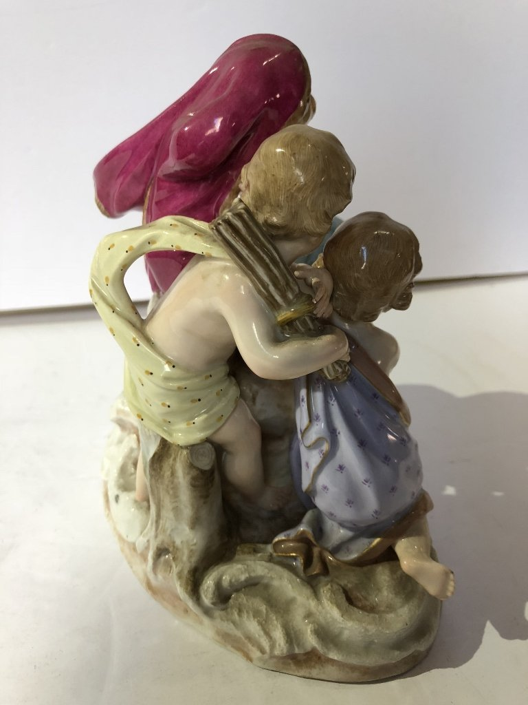 Meissen figurine, Invention of Fire, c.1900 - 5