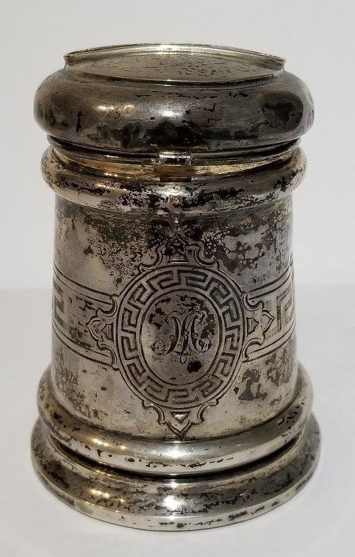 Silver Judaica charity box, c.1900 - 2