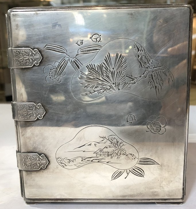 Japanese silver kodansu by Miyamoto - 4