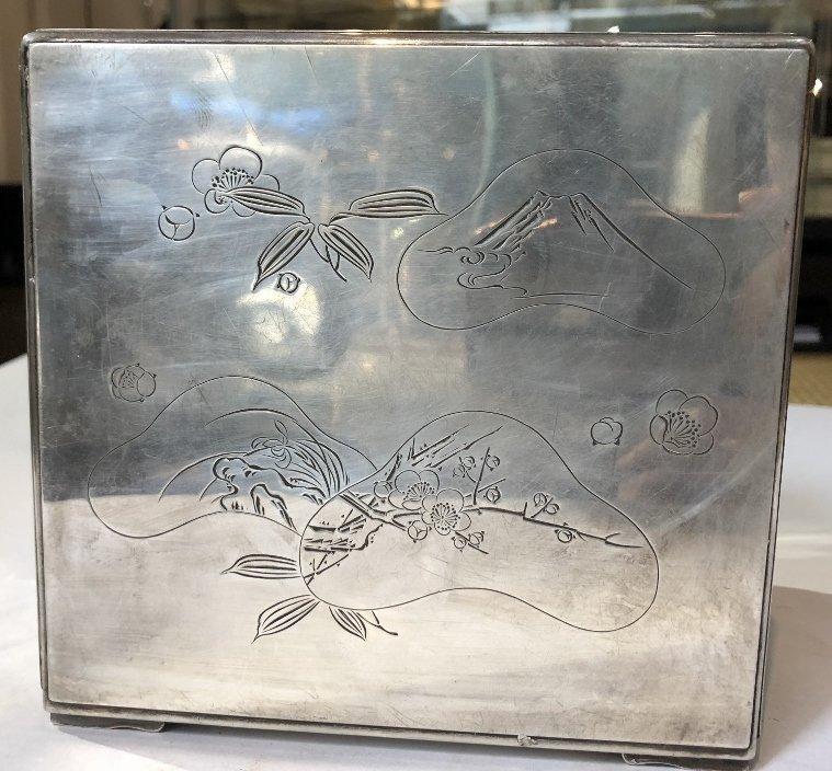 Japanese silver kodansu by Miyamoto - 5