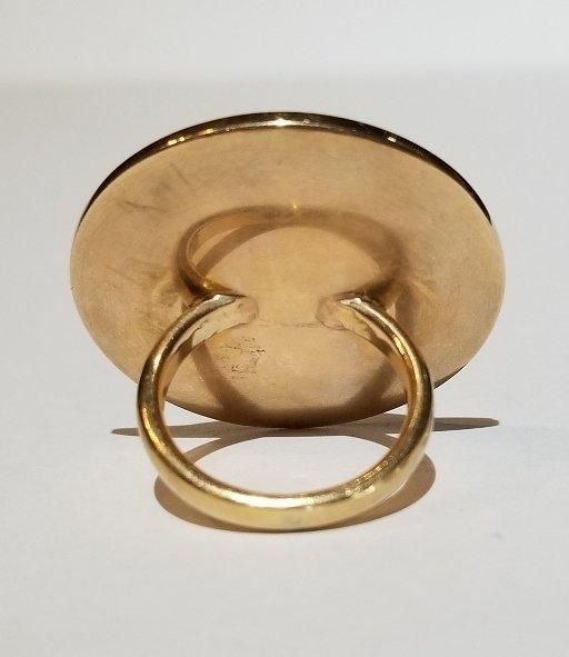 Japanese mixed metal, mounted as a 14k ring - 2