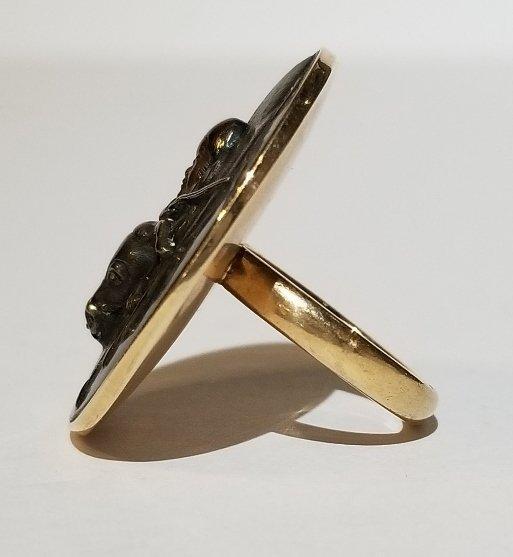 Japanese mixed metal, mounted as a 14k ring - 3