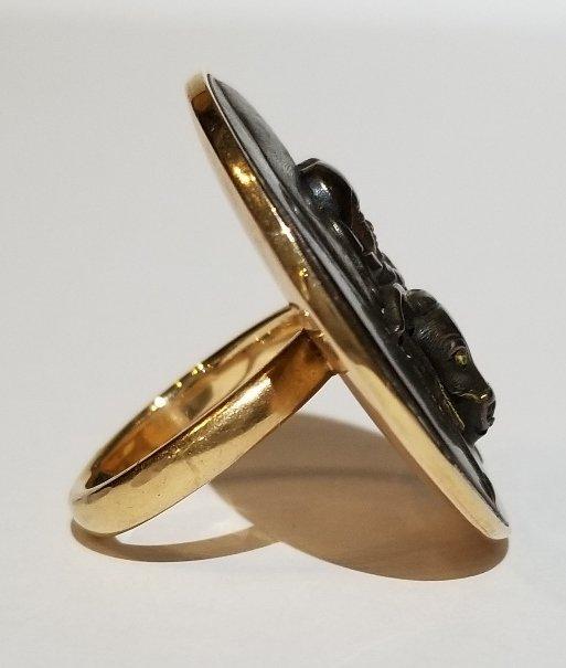 Japanese mixed metal, mounted as a 14k ring - 4