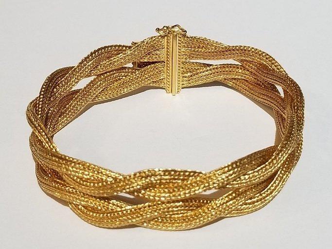 18k Italian braided gold bracelet, 19.5 dwts - 3