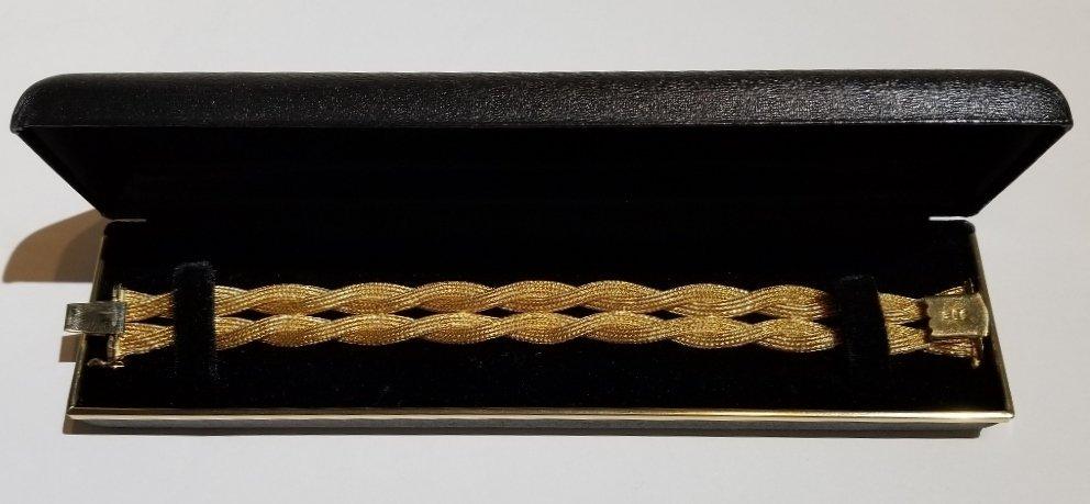 18k Italian braided gold bracelet, 19.5 dwts - 4