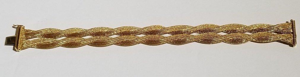 18k Italian braided gold bracelet, 19.5 dwts - 5