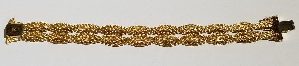 18k Italian braided gold bracelet, 19.5 dwts - 6