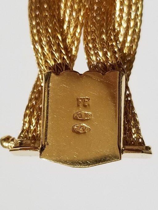 18k Italian braided gold bracelet, 19.5 dwts - 7