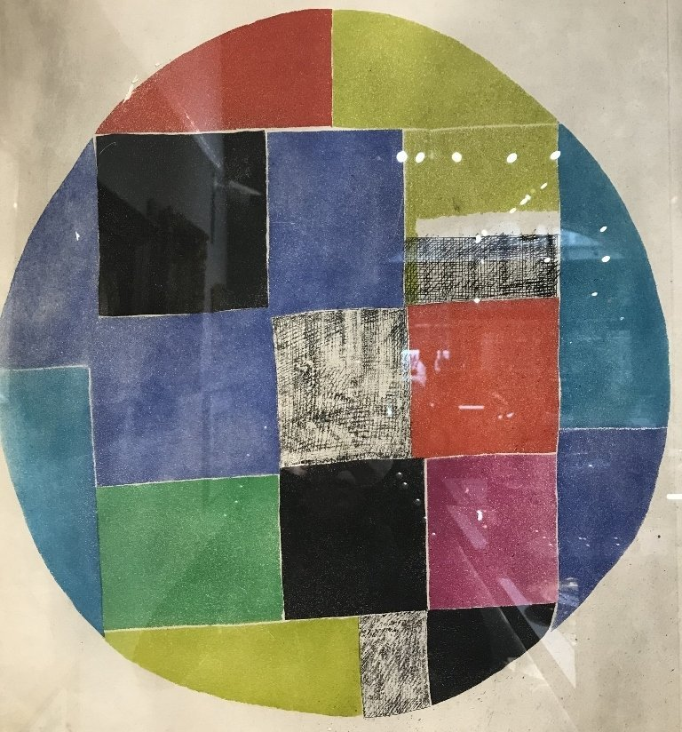 Lithograph by Sonia Delaunay-smoke damage - 2