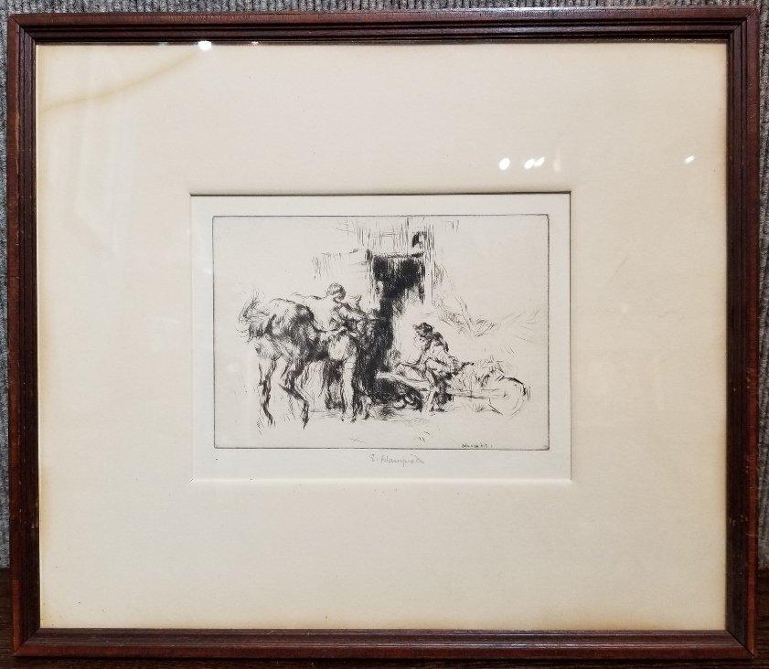 Etching by Edmund Blampied