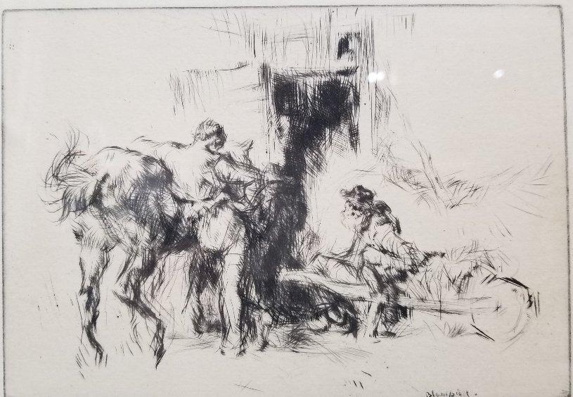 Etching by Edmund Blampied - 2
