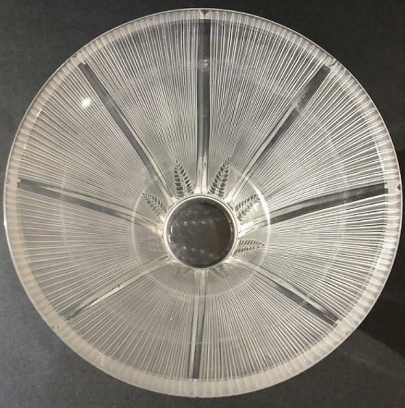 """Lalique deco vase, """"Epis"""", acid etched """"Lalique France"""" - 2"""