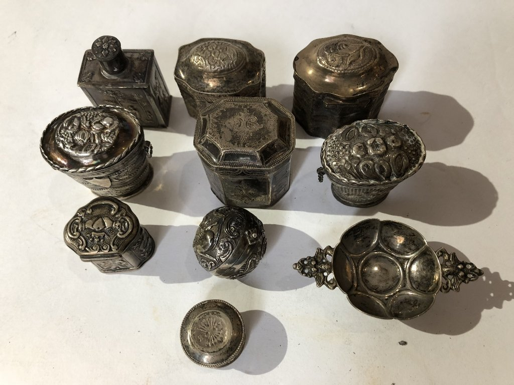 Ten silver Dutch miniatures, 6 oz, 18th/19th century