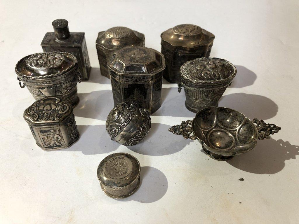 Ten silver Dutch miniatures, 6 oz, 18th/19th century - 2