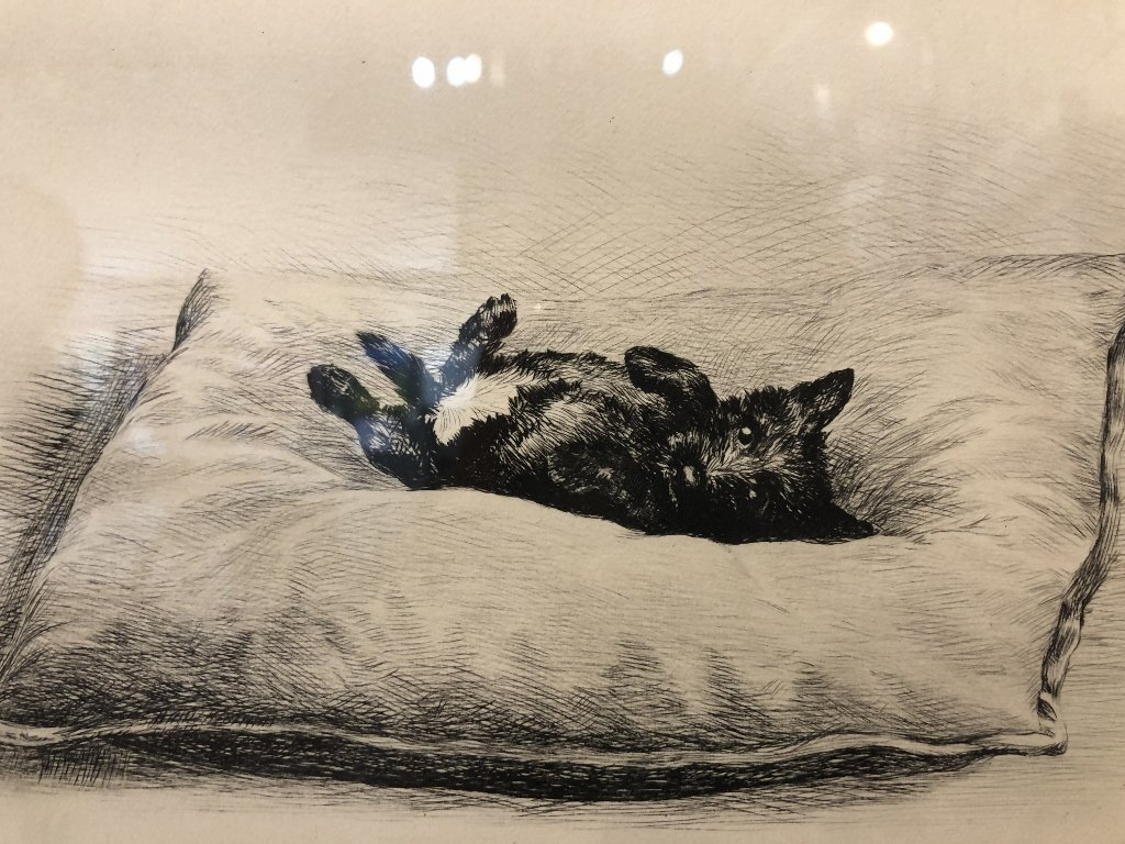 """Age of Innocence"" dog etching by Marguerite Kirmse - 3"