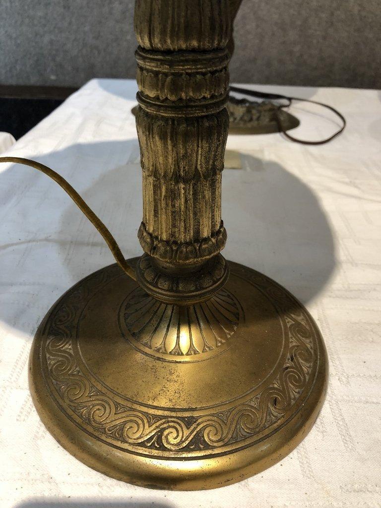 Miller leaded chunk glass lamp, c.1910 - 6