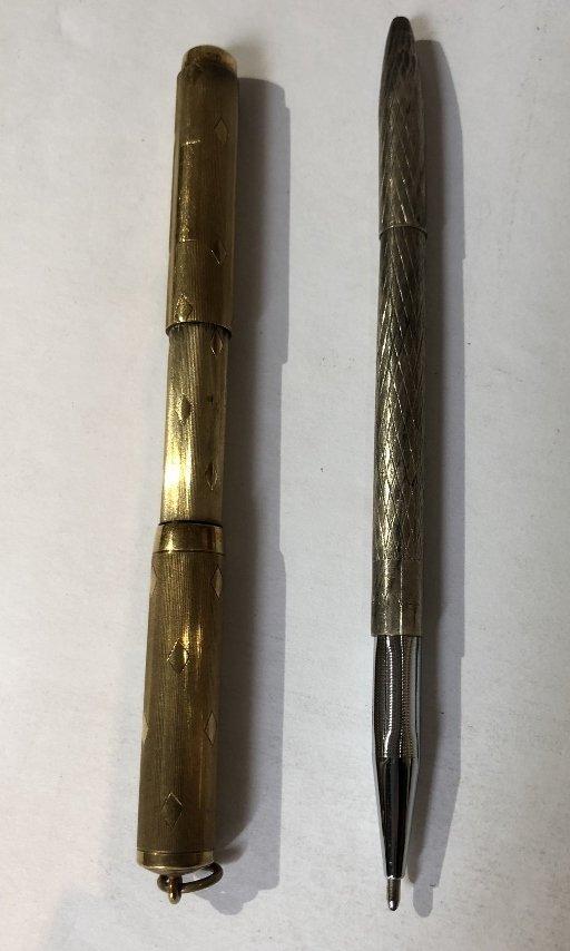 One 14k pen, two Tiffany & Co sterling pens - 4