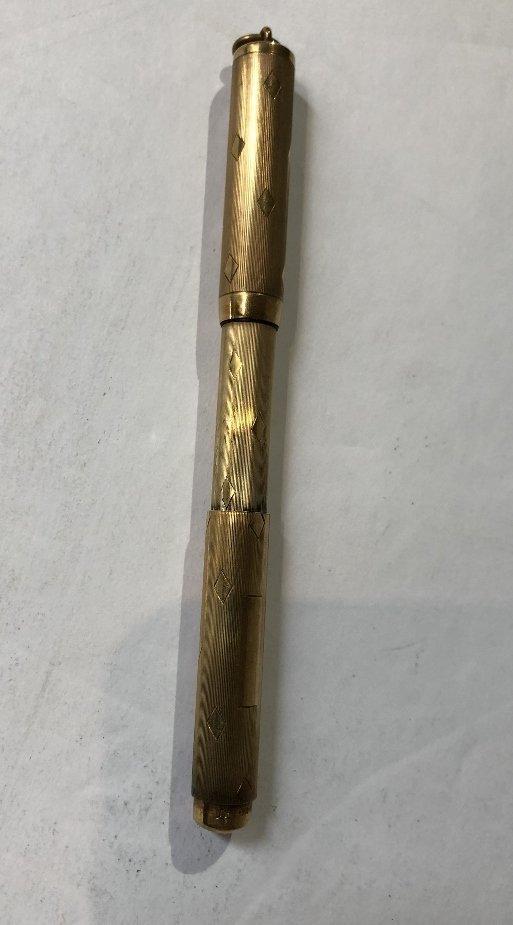 One 14k pen, two Tiffany & Co sterling pens - 5