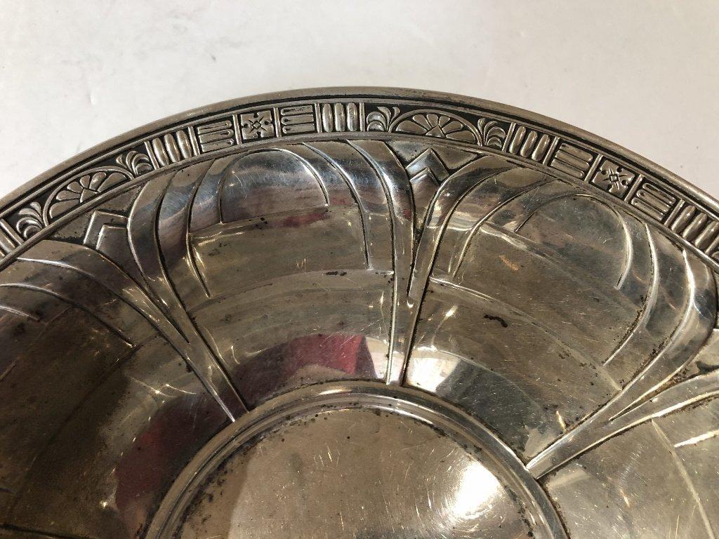 Sterling art deco bowl - 3