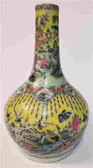 Chinese yellow glaze vase, c.1930