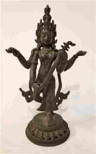 Bronze deity, Nepalese, circa 1960