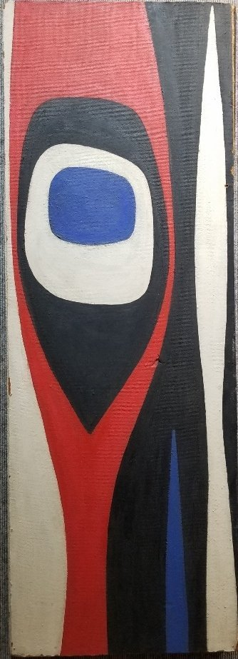 """Abstract ptg signed """"Frank"""", Orrin Riley prov,c.1955"""