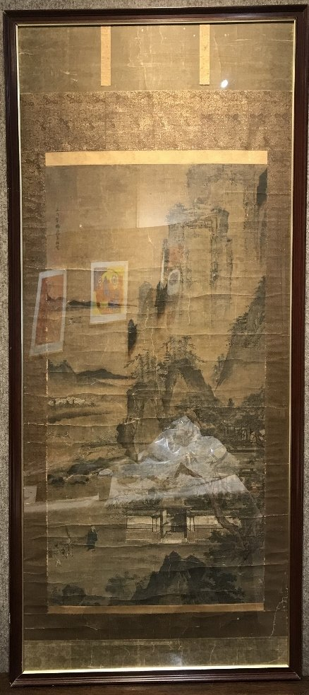 Large 18th/19th century Chinese scroll ptg