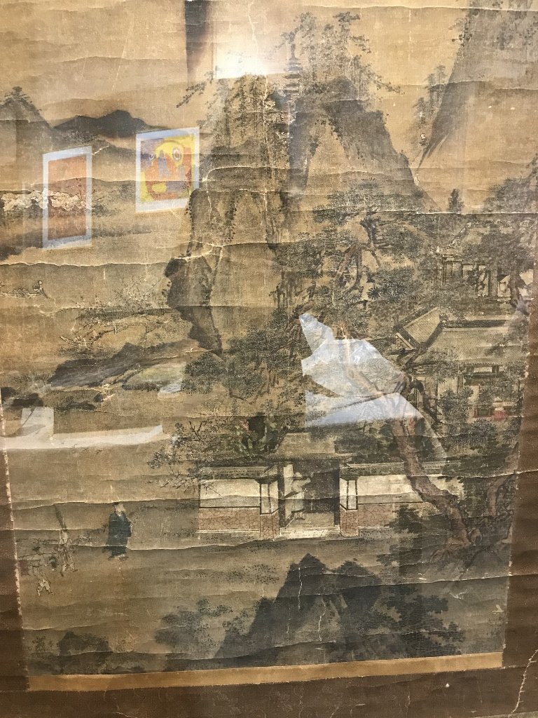 Large 18th/19th century Chinese scroll ptg - 2