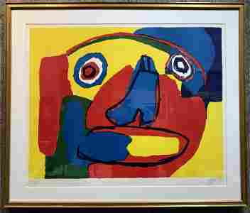 "Litho ""Visage""by Karel Appel, 1969"