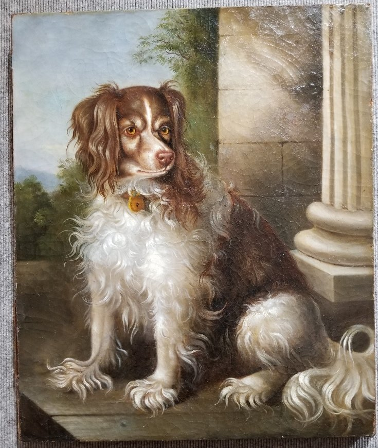18th century painting of King Charles Spaniel
