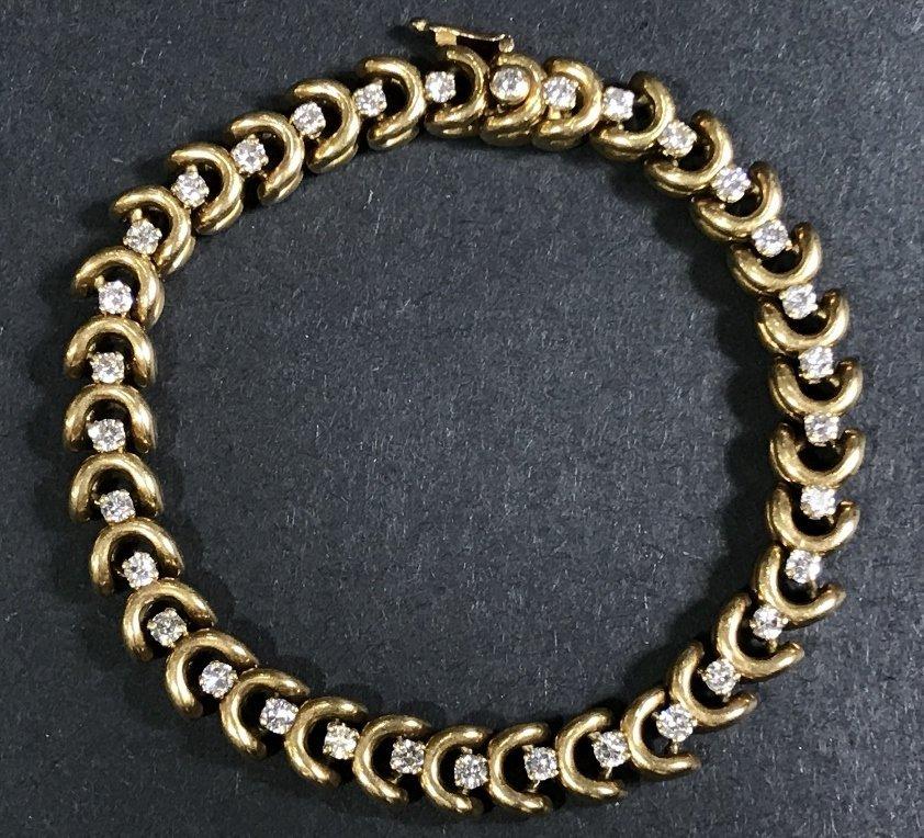 18k Van Cleef & Arpels dia bracelet, #73498