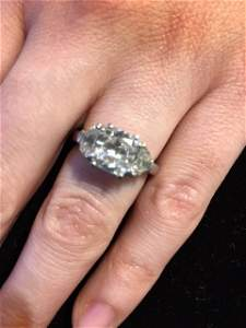 2.06 carat D color SI1 engagement ring GIA report