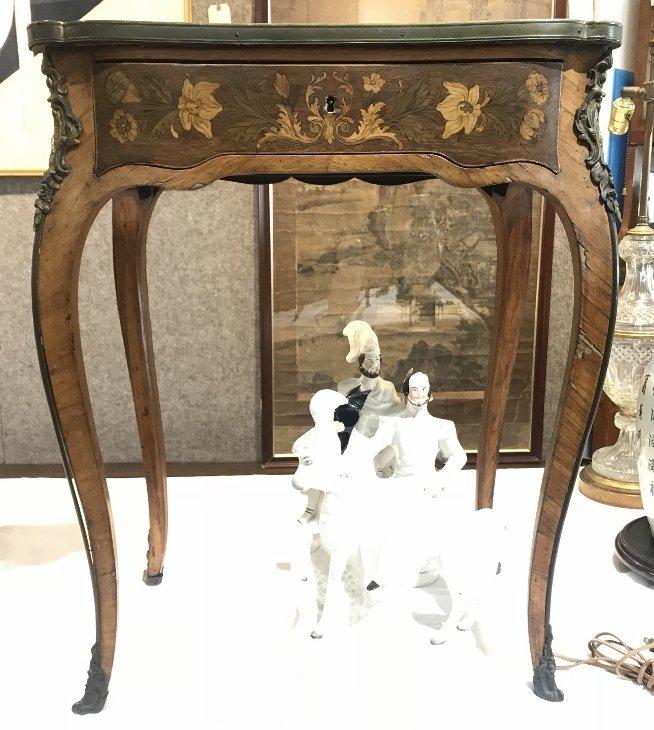 Louis XVI small inlaid table with ormolu