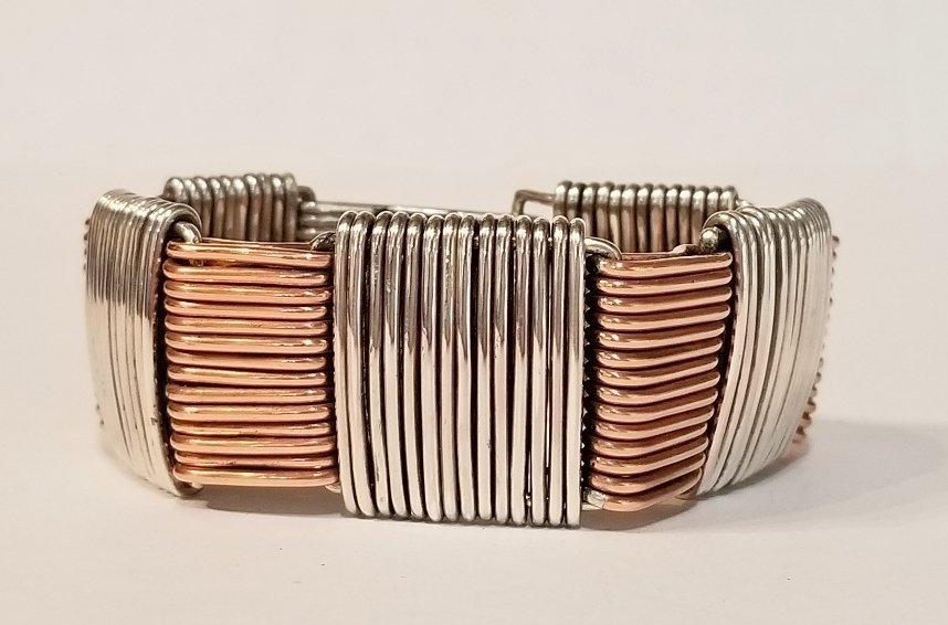 Silver and copper bracelet by Vincent Simone