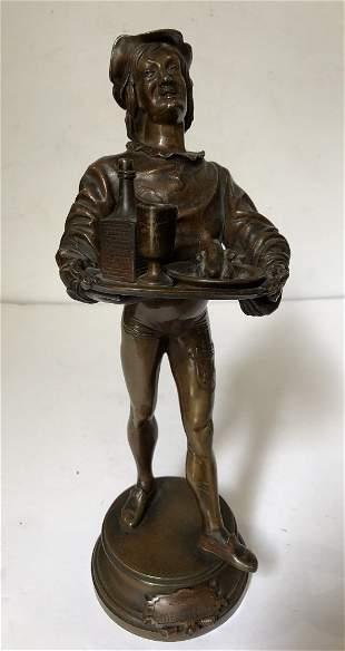 Bronze of servant by Alfred Barye, circa 1870