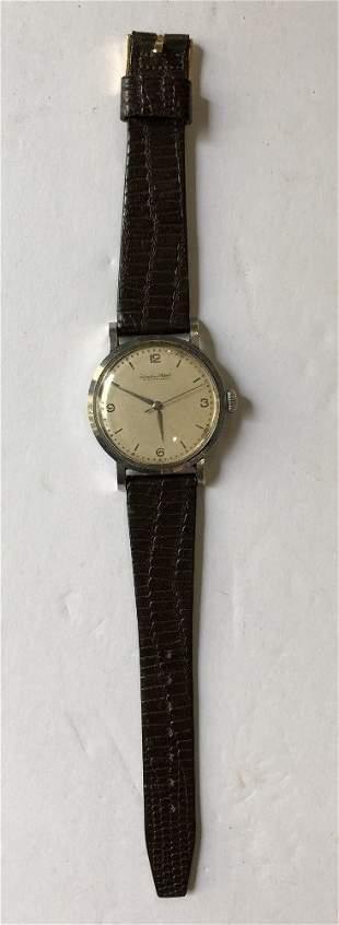 International (IWC)stainless steel wristwatch