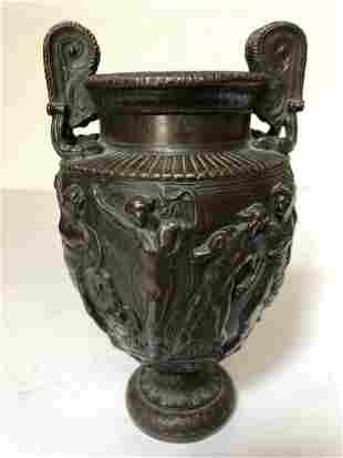 Grand Tour bronze Greek vase, c.1900