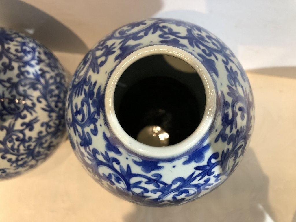 Pair of Chinese double gourd Republic vases-drilled - 2