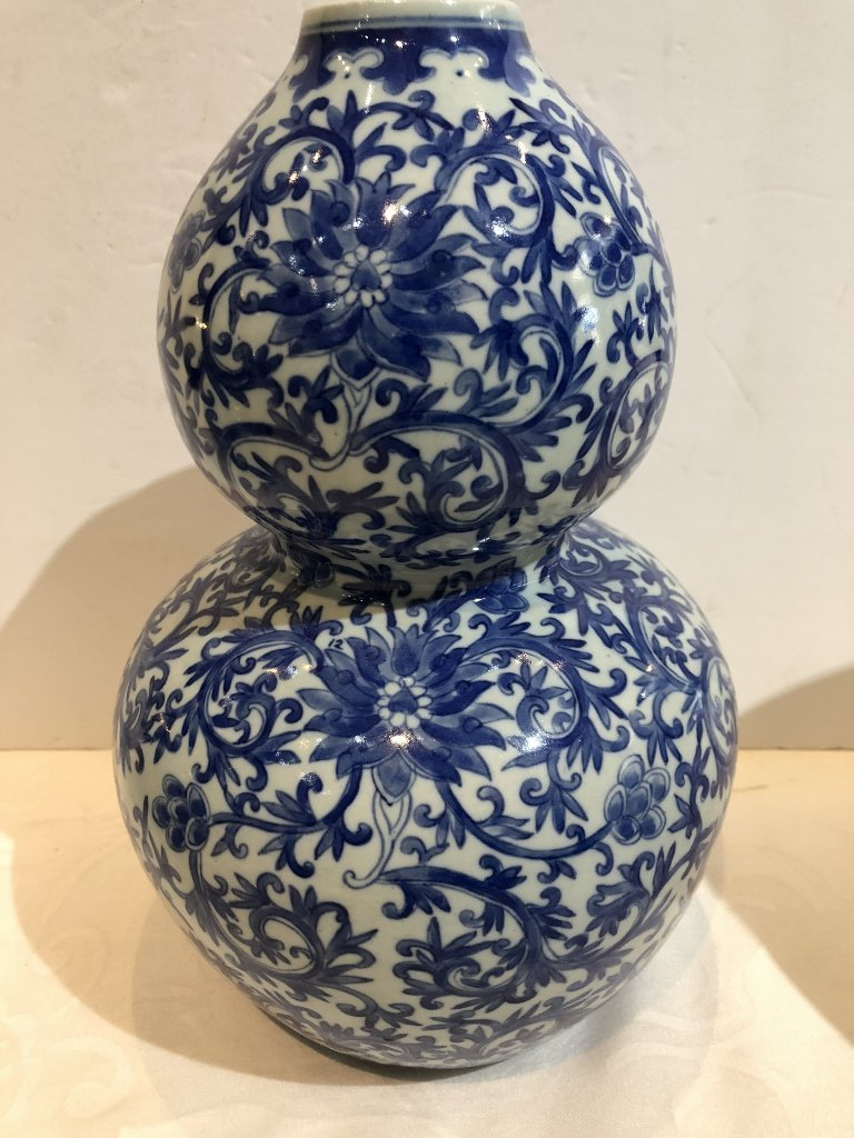 Pair of Chinese double gourd Republic vases-drilled - 3