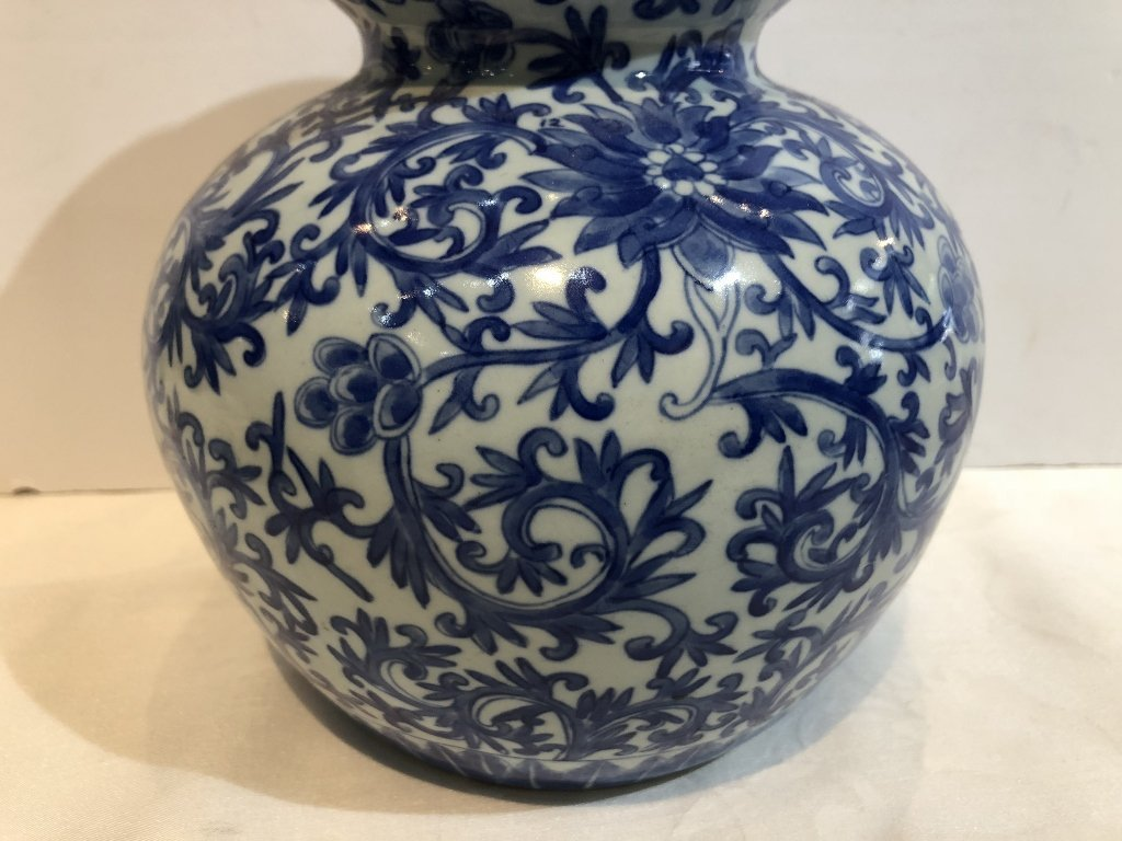 Pair of Chinese double gourd Republic vases-drilled - 5
