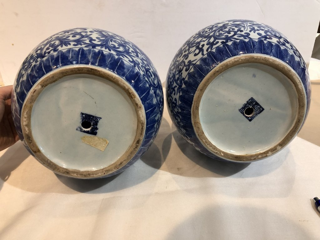 Pair of Chinese double gourd Republic vases-drilled - 7