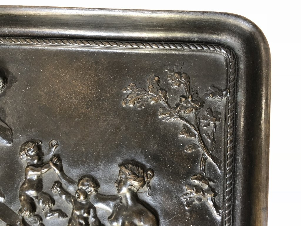 Bronze tray by C.M.Clodion, Thiebaut Freres fdry - 4