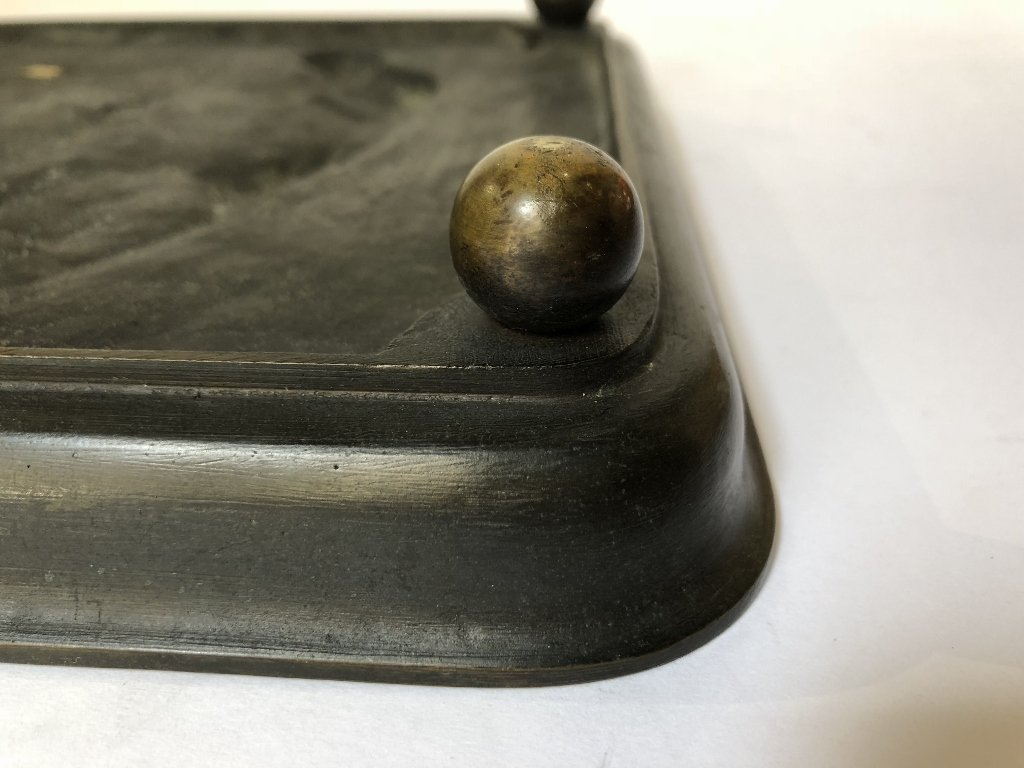 Bronze tray by C.M.Clodion, Thiebaut Freres fdry - 7