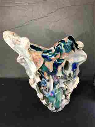 Blown glass vase by Jon Kuhn
