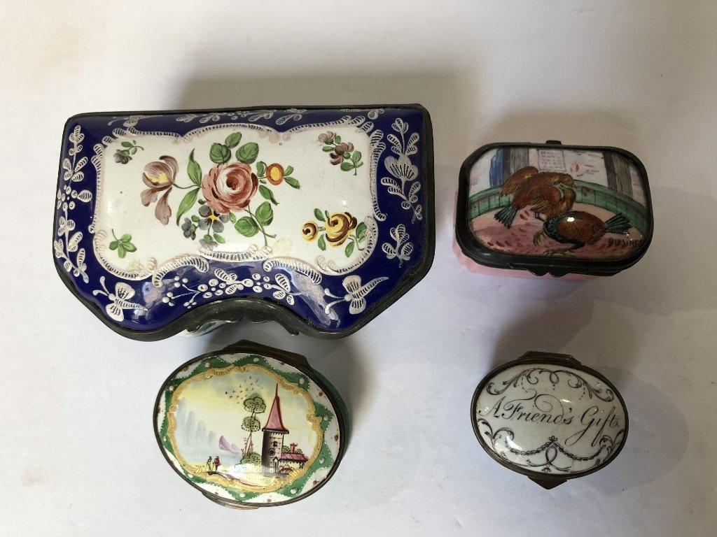 Four 18th/19th century enamel boxes - 2