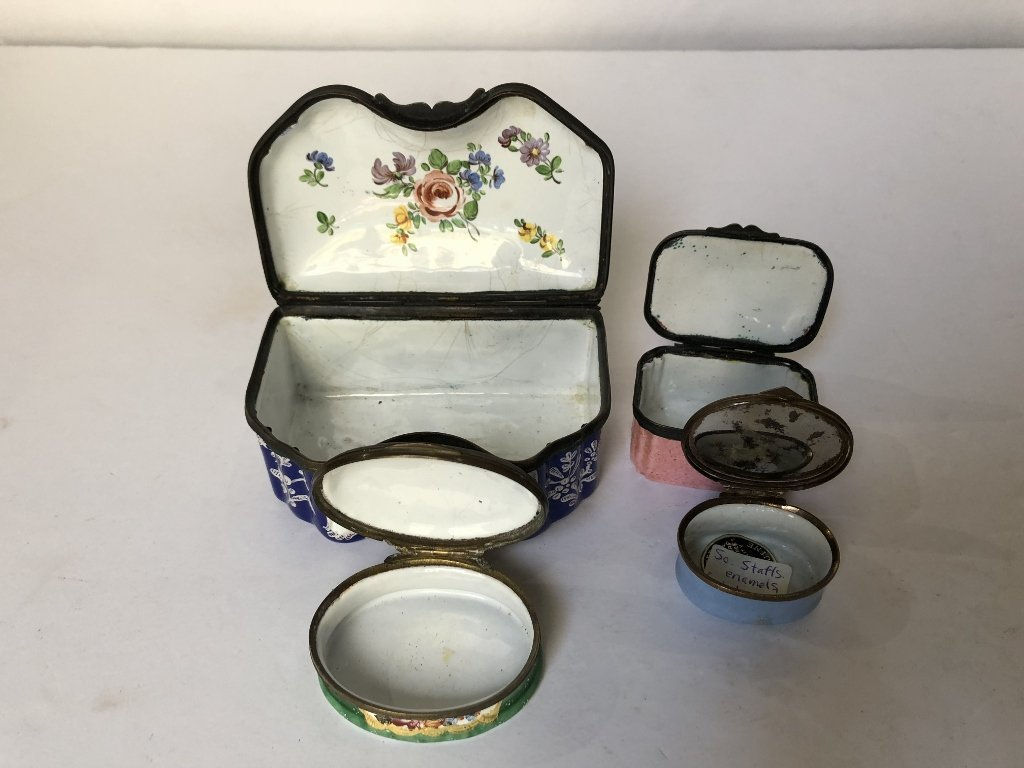 Four 18th/19th century enamel boxes - 3